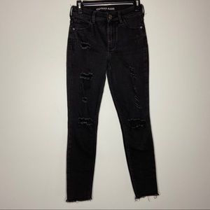 Express Size 0 Black High Rise Skinny Jeans